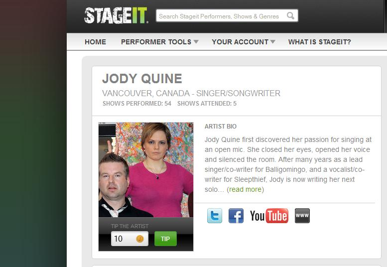 JodyQuine1 StageIt 101: Creating An Intimate Experience