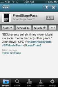 EDM social tickets