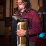 Jason Webley on the accordian