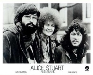 ALice Stuart and Snake 1970