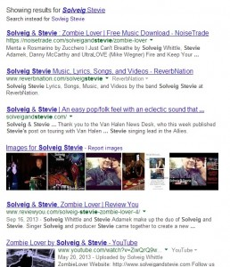Solveig Stevie Google 258x300 10 SEO Tips For Musicians